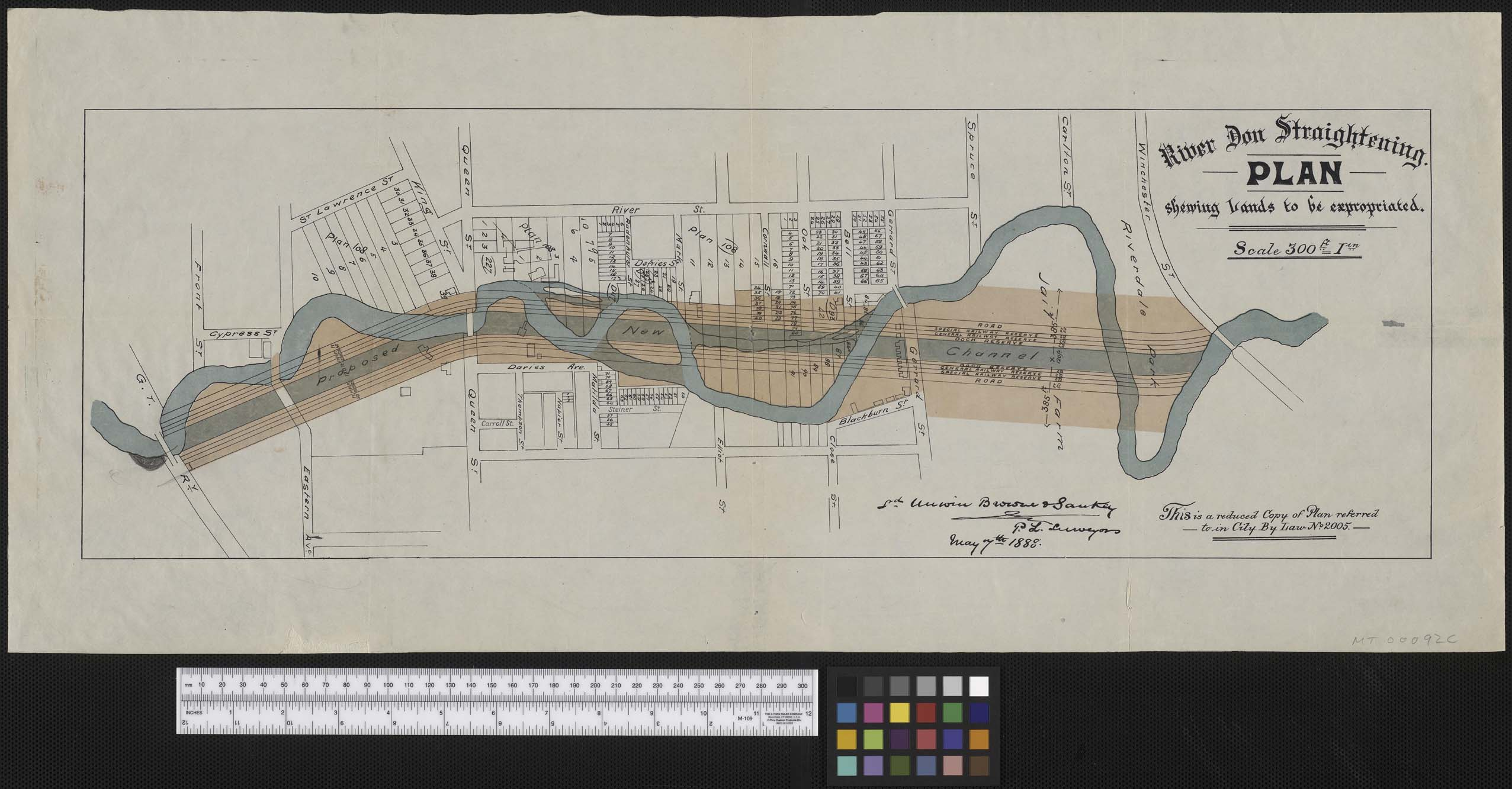 River Don Straightening Plan, showing lands to be ...
